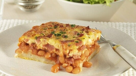 Baked Bean, Bacon & Cheese Hash Brown