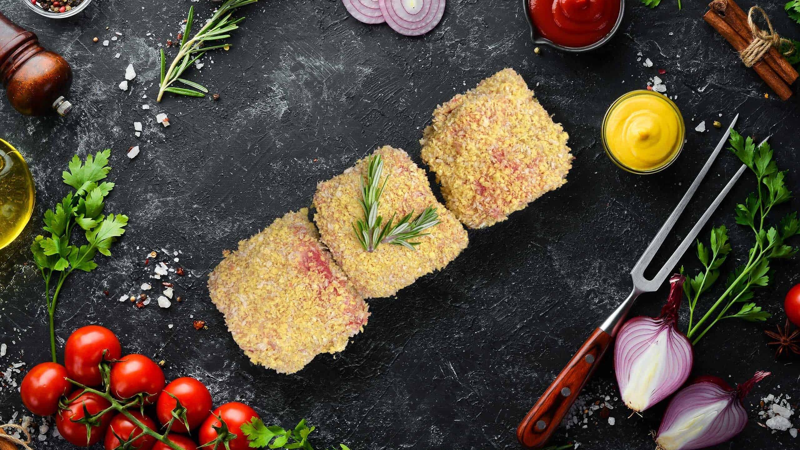 Beef Schnitzel Stuffed with Garlic Butter & Cheese