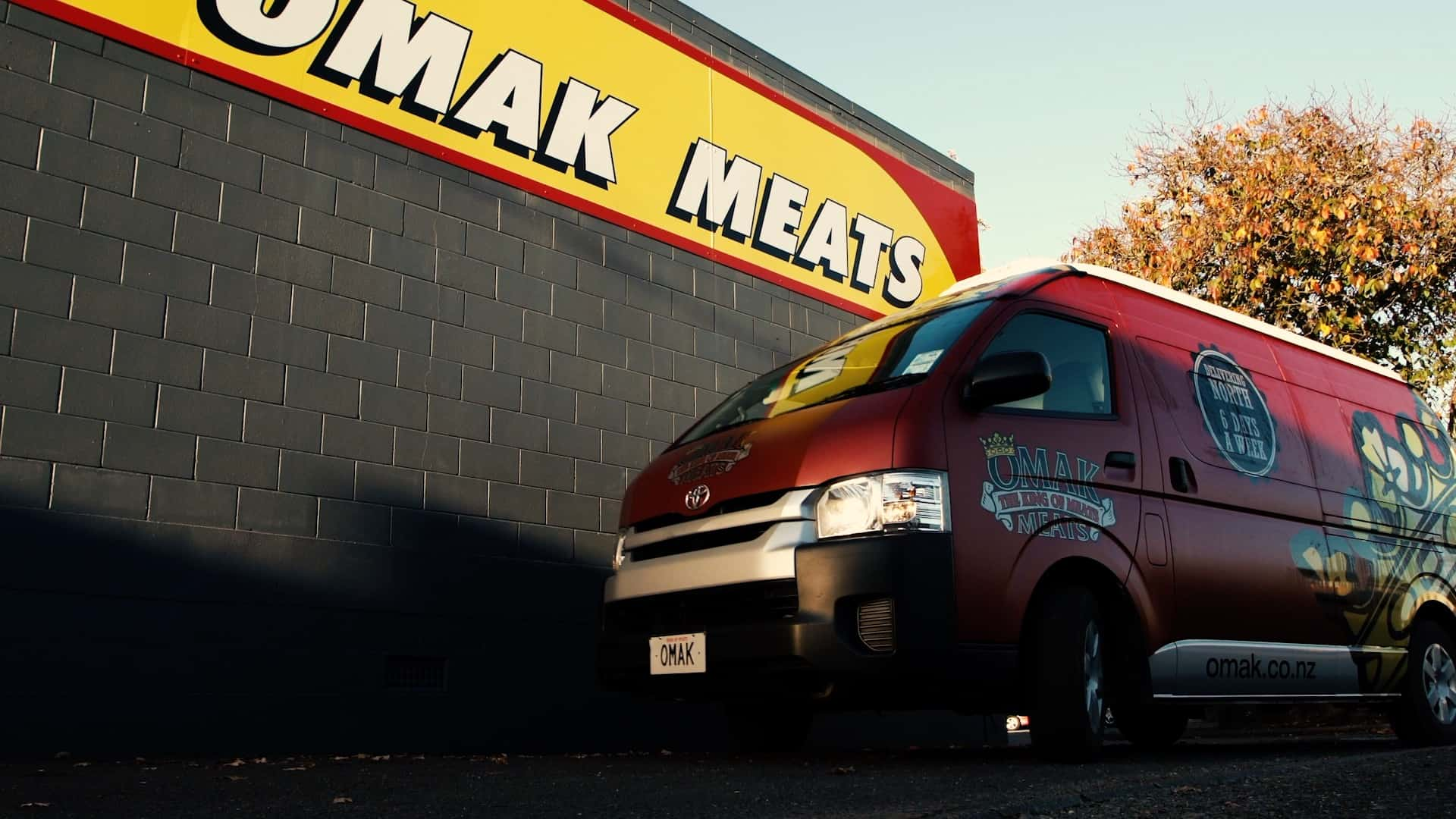 Omak Meats delivery vehicle