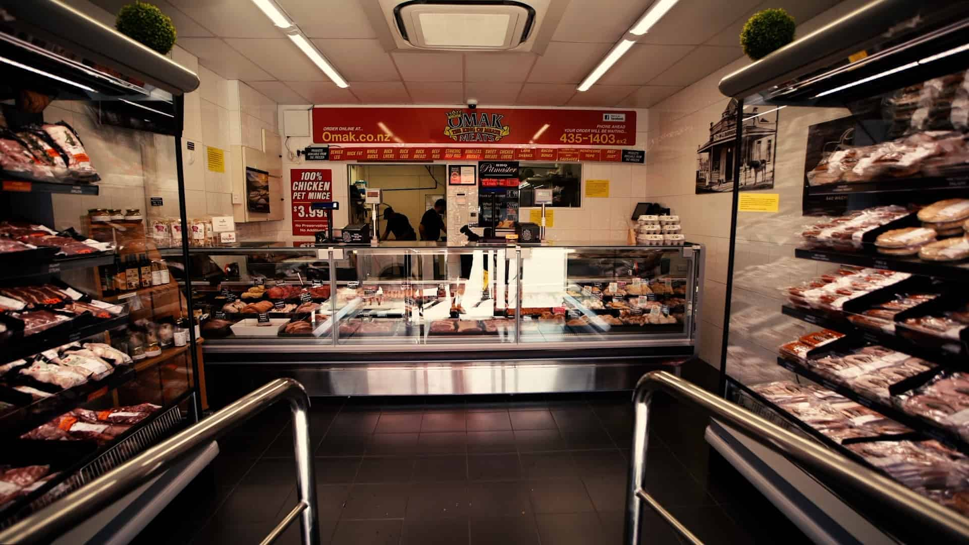 Omak Meats internal view of shop