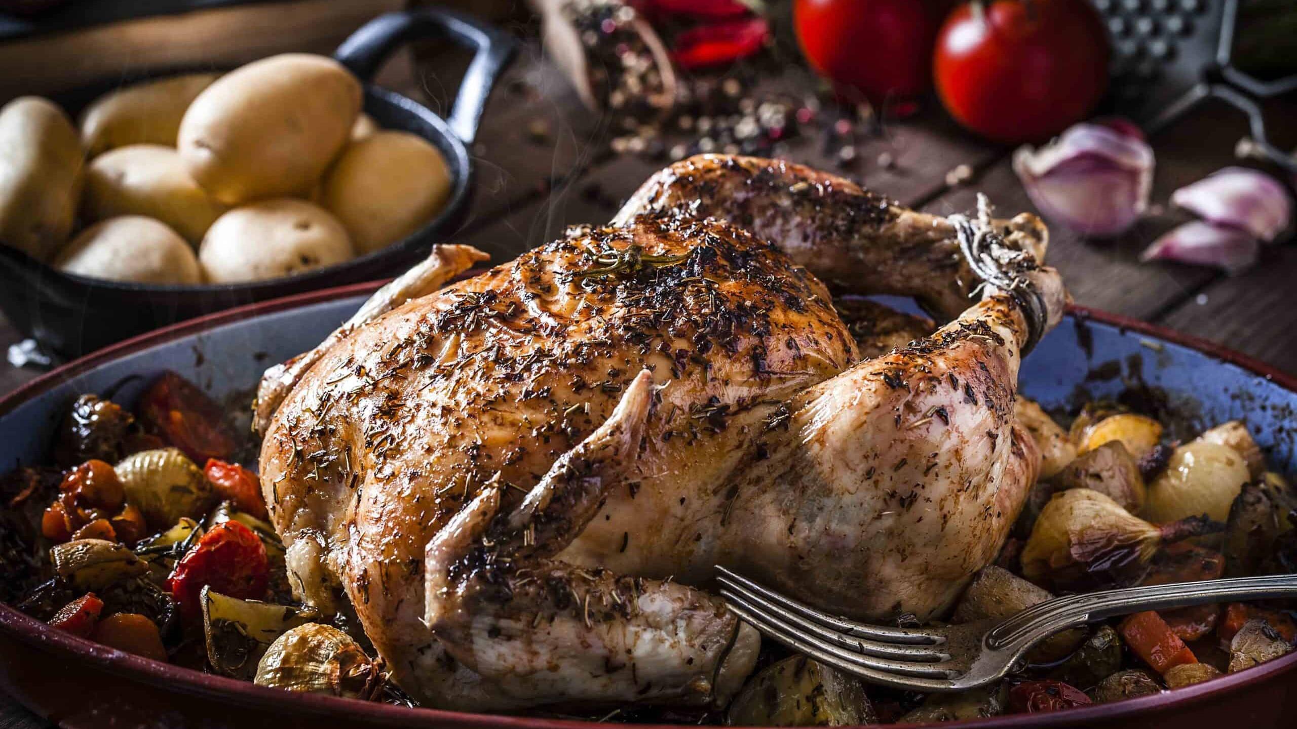 Roast Chicken and Caramelised Alliums
