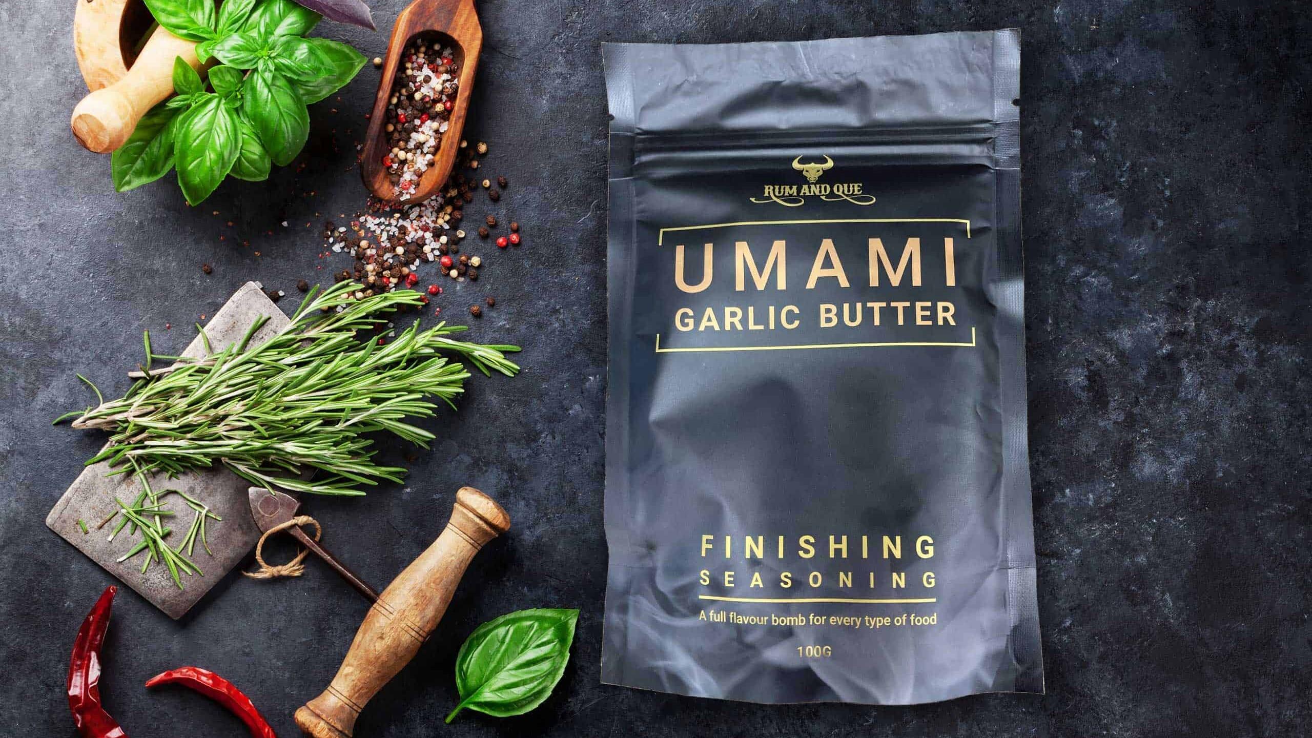 Rum & Que Umami Garlic Butter Finishing Seasoning