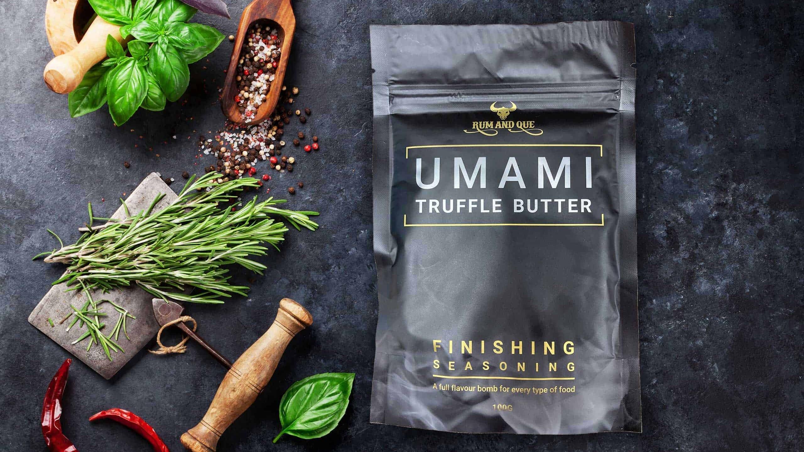 Rum & Que Umami Truffle Butter Finishing Seasoning