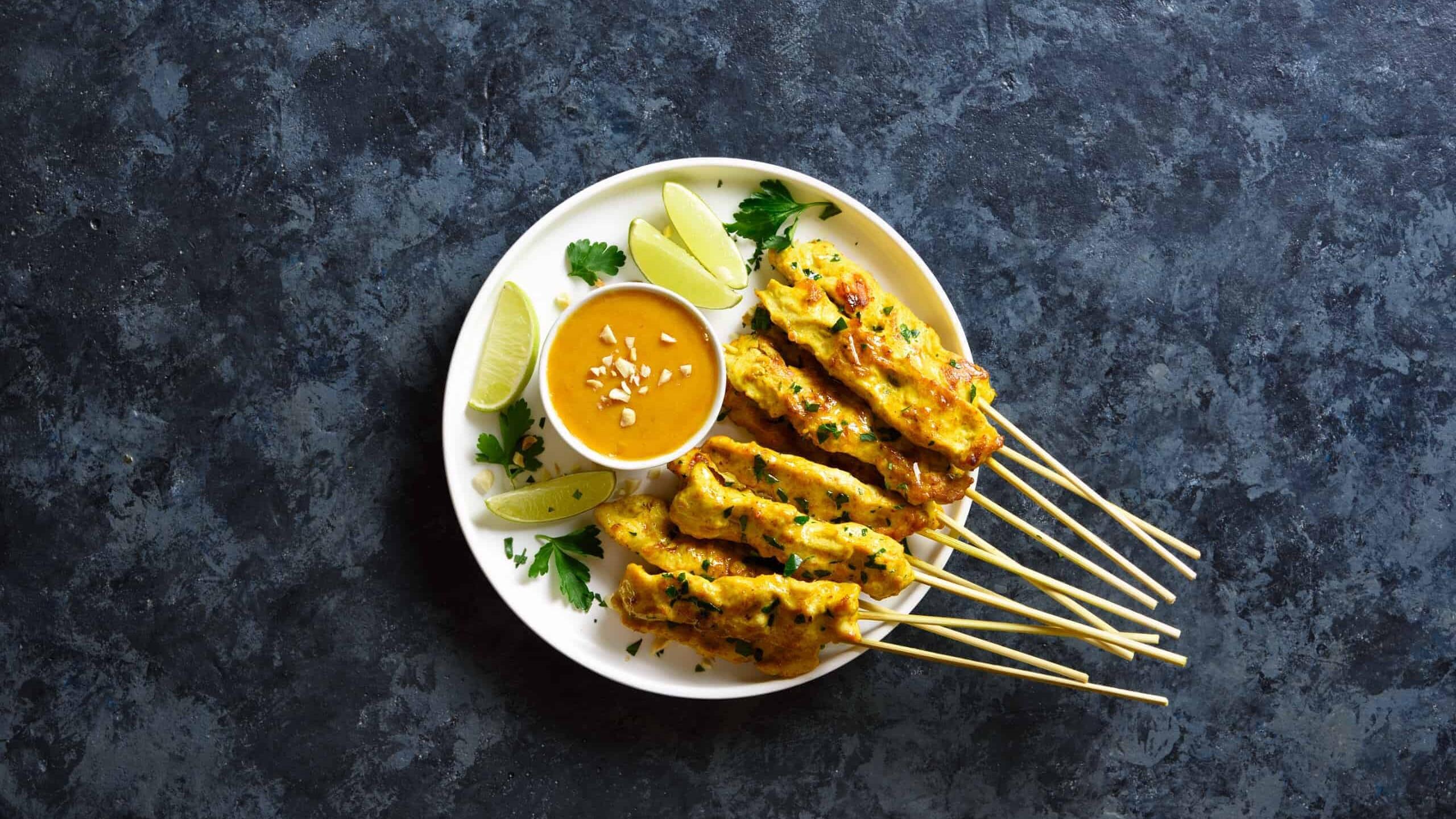 Satay Chicken Kebabs