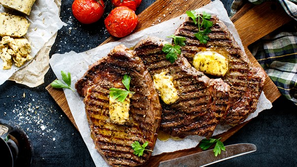 Scotch Fillet with Fennel and Herb Butter
