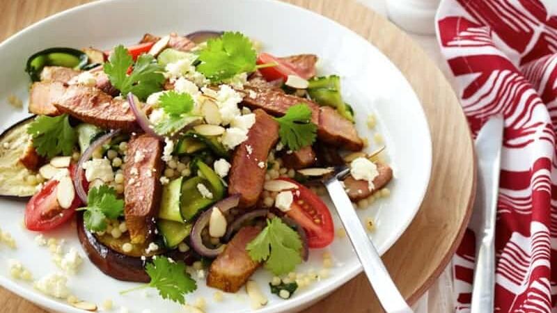 Spiced Lamb, Vegetable & Israeli Couscous Salad